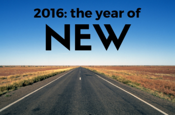 2016 the year of new