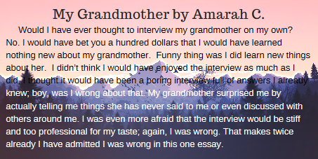 My Grandmother by Amarah
